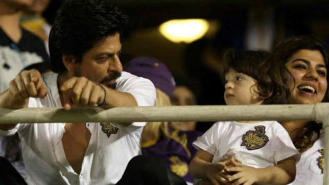 Shah Rukh Khan races with son AbRam on the Eden turf