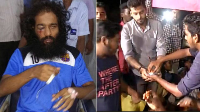 Chennai: Students protest outside IIT Madras over attack on a PhD scholar, protesters consume beef