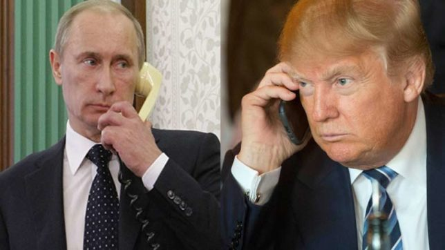 Trump and Putin discuss Syrian crisis, Korean Peninsula over phone call