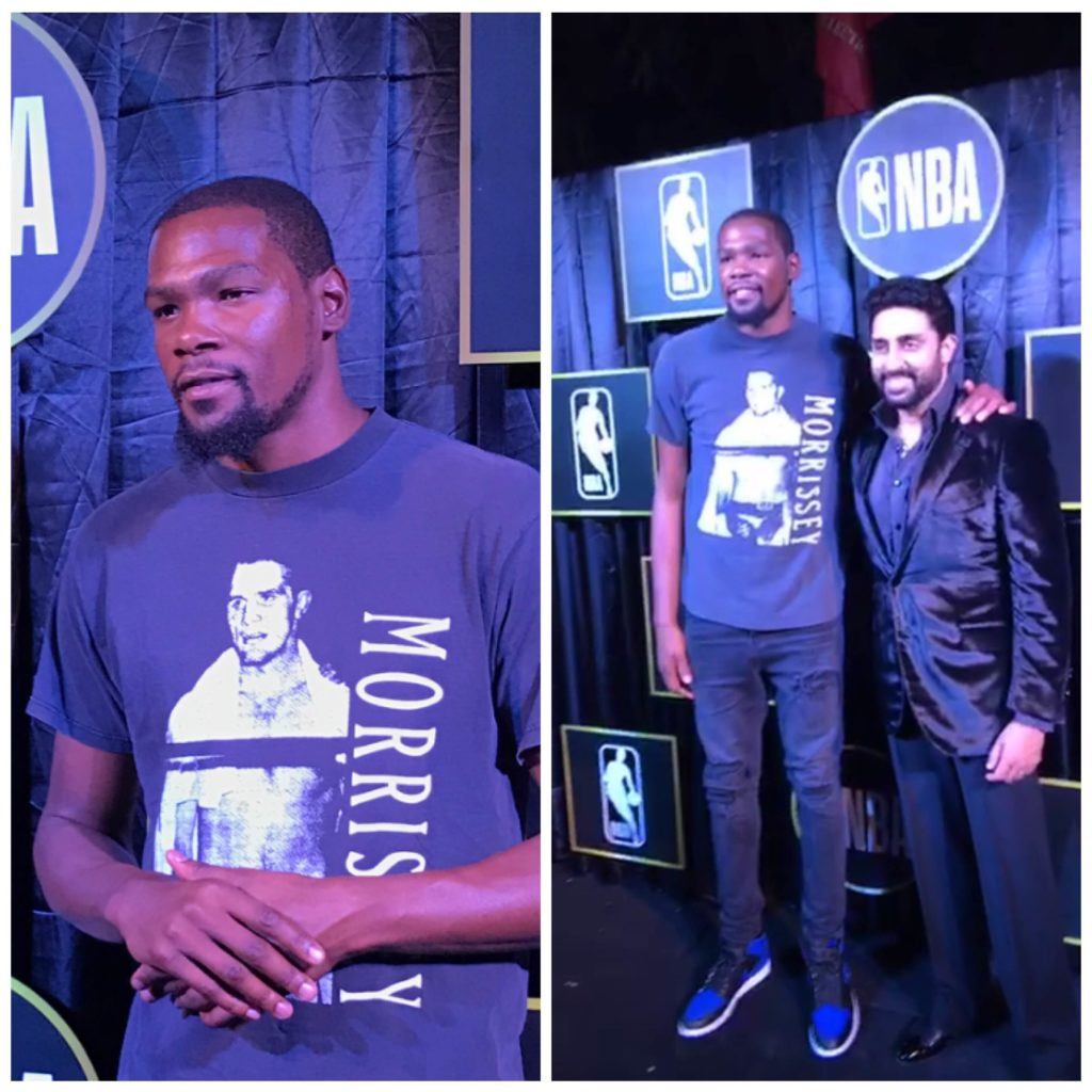 75a701d0c10 Bollywood embraces NBA superstar Kevin Durant in his first trip to ...