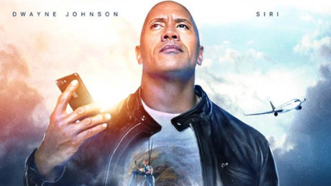 Siri: The Rock's new movie co-star