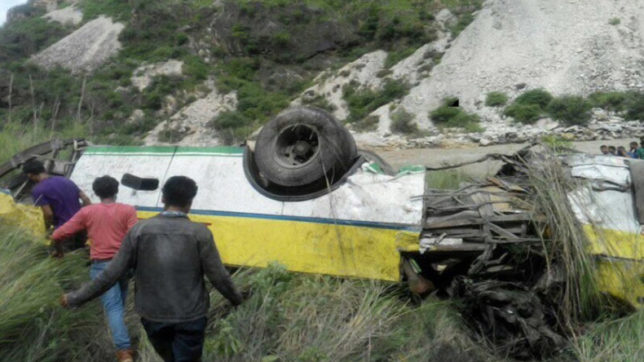 Himachal Pradesh: Bus falls into gorge near Rampur; at least 20 killed