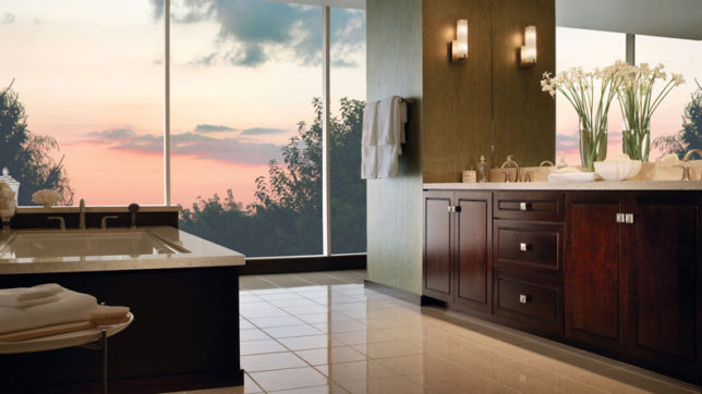 Amp up your bathroom with copper fittings, lamps