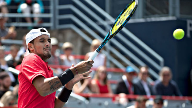 Kyrgios edges past Ferrer, to face Dimitrov in final