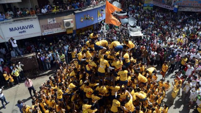 'Dahi Handi' celebrated with nationalistic flavour in Maharashtra