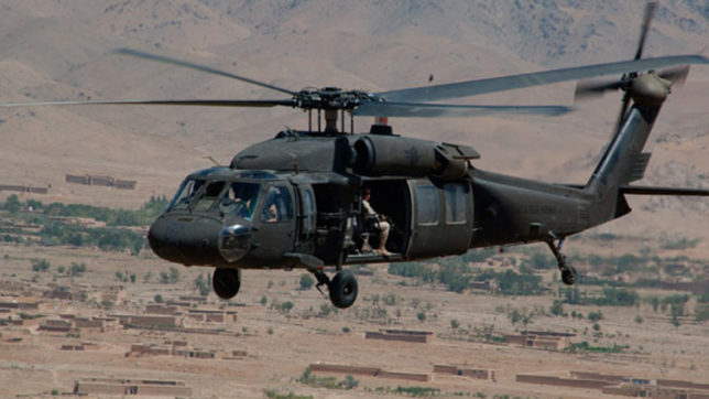 US: Army helicopter carrying 5 crew members crashes