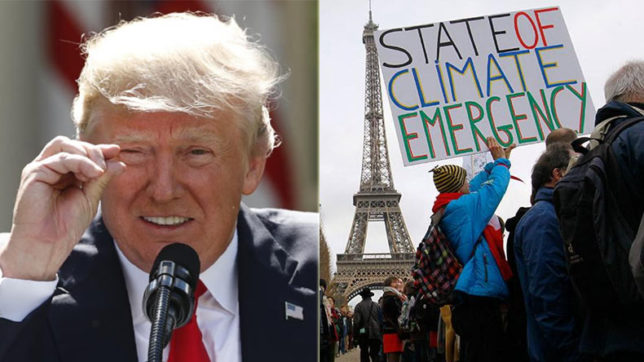 Despite the rhetoric, the US can't pull out of Paris pact before Nov 4, 2020