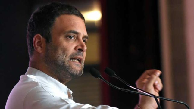 Rahul Gandhi says BJP, RSS trying to change Constitution