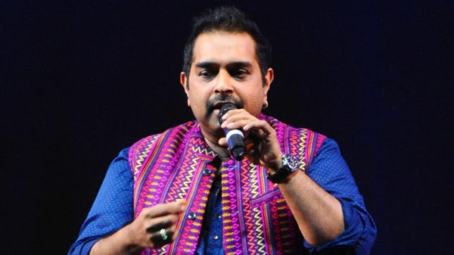 Jaipur: Indian composer and vocalist Shankar Mahadevan performs during