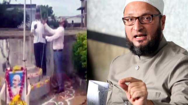 Telangana: Principal attacked for unfurling flag with shoes on; Owaisi seeks action