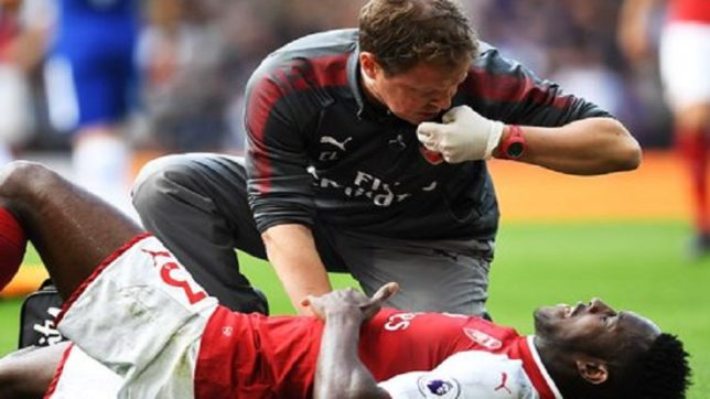 Arsenal striker Danny Welbeck ruled out for a month after suffering groin injury