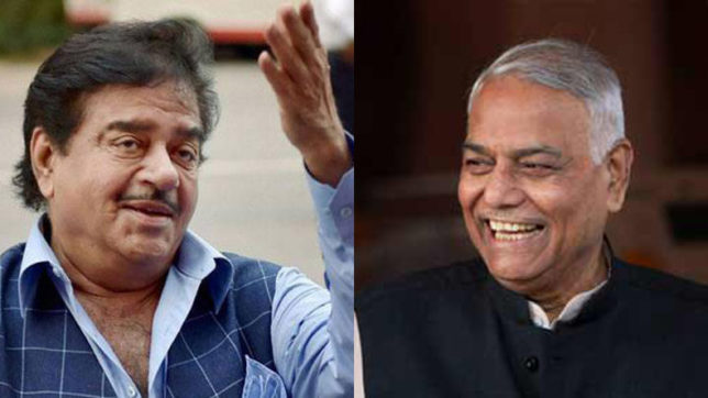 Yashwant Sinha gets a boost from Shatrughan Sinha, others from opposition
