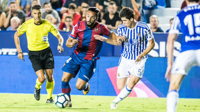 Levante beat Real Sociedad 3-0 to remain undefeated