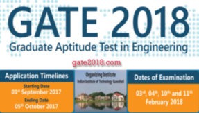 GATE 2018 online application open now; 5 Oct last date to apply @ appsgate.iitg.ac.in