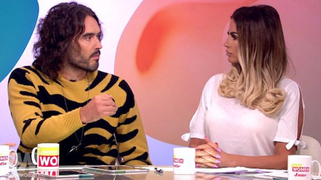 Russell Brand asks Price to give ultimatum to sex addict husband
