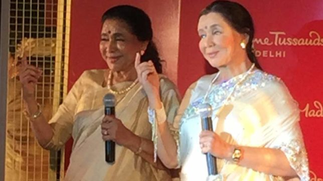 Singing queen Asha Bhosle unveils her wax statue at Madame Tussauds museum, New Delhi