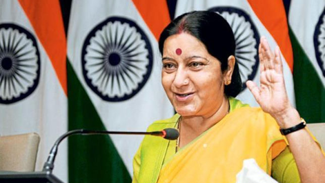 Sushma Swaraj assures help after Russian youth was forced to beg at Chennai temple; grants visa to Pakistani girl