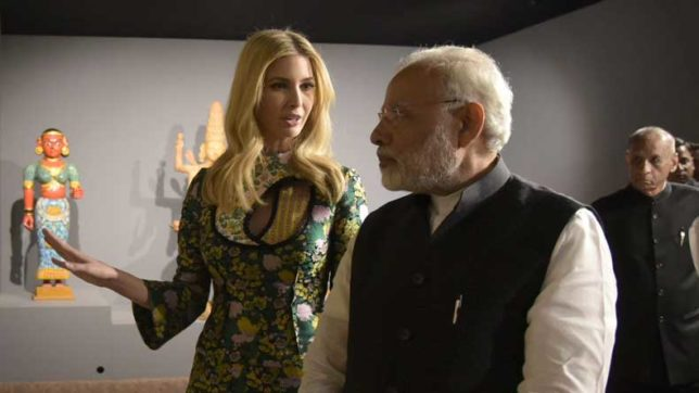 ivanka trump picture with narendra modi