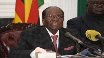 Zimbabwe President Robert Mugabe on Tuesday resigned from the country's top post after 37 years, parliament Speaker Jacob Mudenda announced