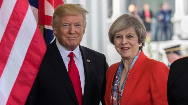 Britain calls for leadership from Trump for Middle East peace