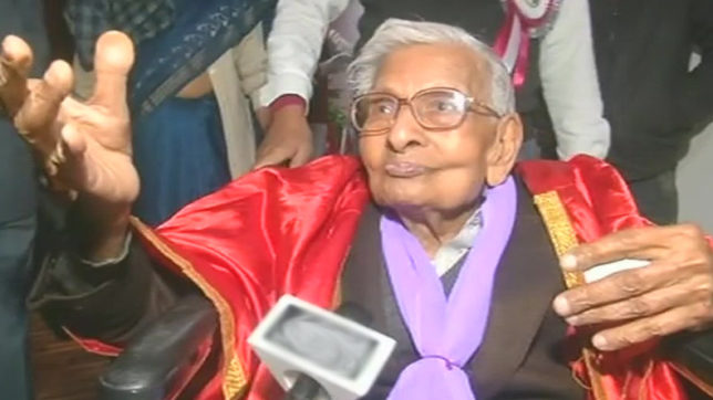 Finally post graduate! 98-year-old man defies age to earn masters degree