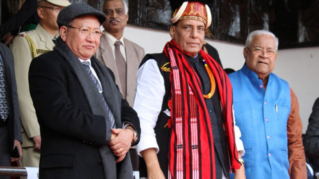 Rajnath Singh promises territorial unification of northeastern states