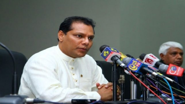 Sri Lankan sports minister Dayasiri Jayasekera prevents cricketers from travelling to India