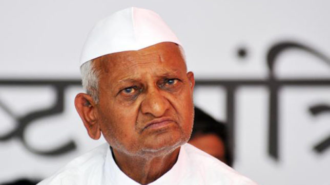 Anna Hazare asks volunteers to sign affidavits against joining politics