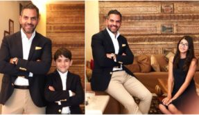 Karisma Kapoor's ex husband Sunjay Kapur spends quality time with their children