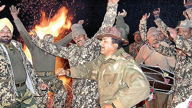 Happy Lohri 2018: Indian Army soldiers dance around bonfire at LOC; SEE PICS