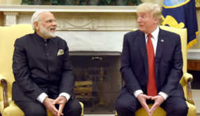 US President Donald Trump imitates PM Modi with phony Indian accent
