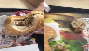 Viral! Disgusting video shows maggots crawling inside Burger Kings's burger