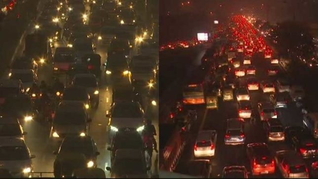 After intense smog, huge traffic chaos in Delhi due to New Year celebrations
