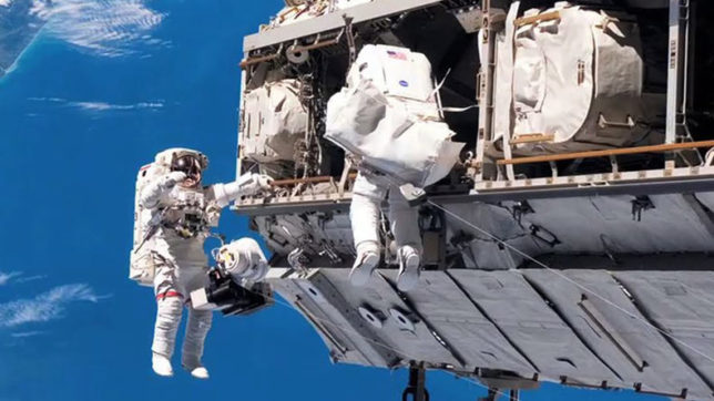 NASA astronauts conduct first spacewalk of 2018