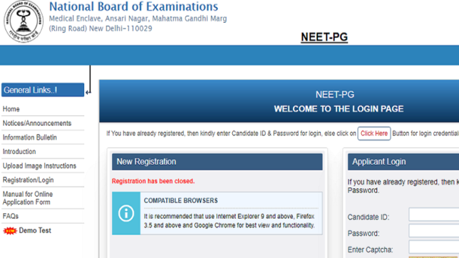NEET 2018: PG admit card released, download card @ nbe.edu.in