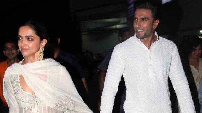 Relationship goals: Ranveer Singh-Deepika Padukone walk hand-in-hand during Padmaavat screening
