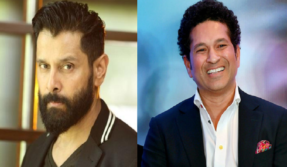 Here's what happened when Chiyaan Vikram met Sachin Tendulkar
