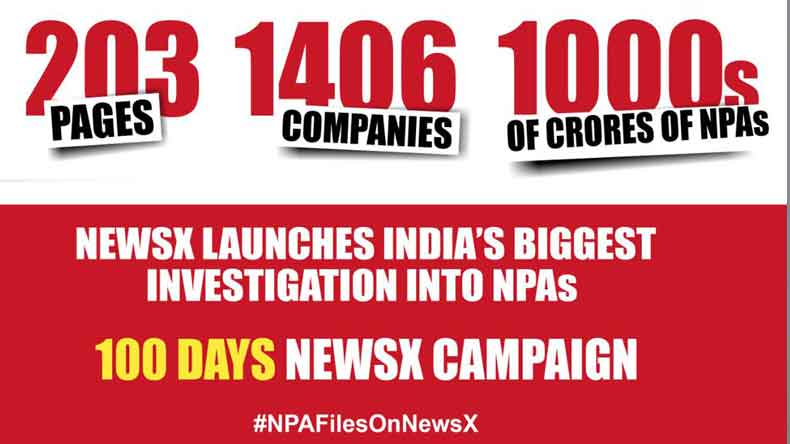 NPA files on NewsX: India's biggest investigation into NPAs