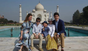 Canadian PM Justin Trudeau commences India trip with visit to Taj Mahal with family