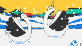 Creative! Google pays tribute to Winter Olympics with Valentine's Day twist