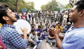 Students at Jawahar lal university had tussle with administration over attendance row