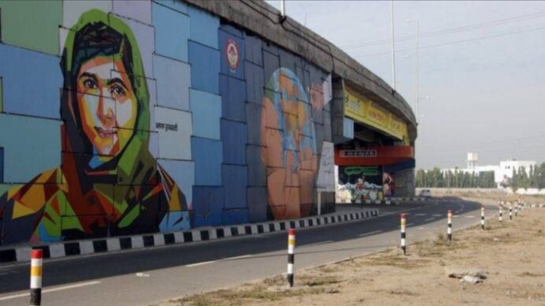 India honours Nobel Prize winner Malala Yousafzai by painting her mural for efforts towards women empowerment