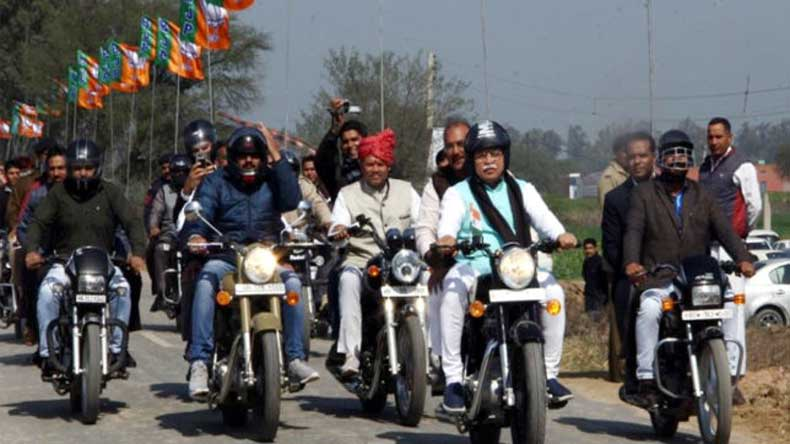 1 lakh bikers expected to participate in Amit Shah's Yuva Hunkar Rally in Jind