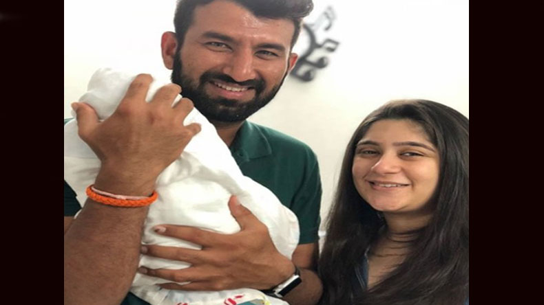 Cheteshwar Pujara, wife become proud parents to a baby girl