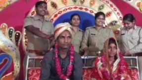 Marriage at police station! Missing couple ties knot with help of UP Police after families' disapproval
