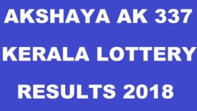 Kerala Akshaya AK 337 lottery results 2018: Check out complete list of winners