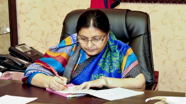 Nepal's first woman President Bidya Devi Bhandari scripts history with second successive triumph