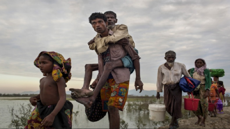 After wiping out Rohingya villages, Myanmar govt builds helipads on razed land