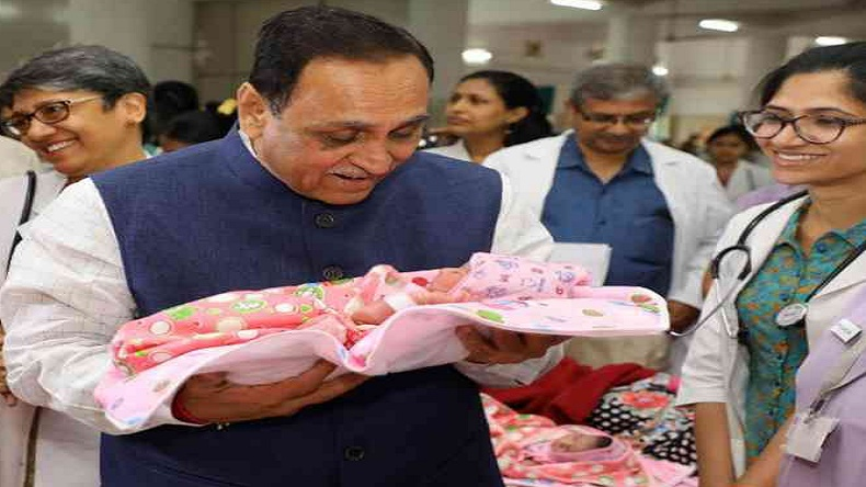 Girls born on March 8 will be called 'Little Angels' states Gujarat CM Vijay Rupani