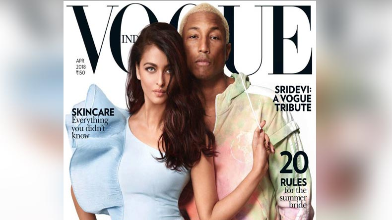 Vogue Magazine, Vogue, Bollywood, Bollywood actress, Cannes, Happy, Frontin, Freedom, Seeing Sounds, Fanny Khan, Hum Dil De Chuke Sanam, Pharrell Williams, Rapper, American rapper, Vogue, Hollywood, music, singer, actor, actress, Entertainment News